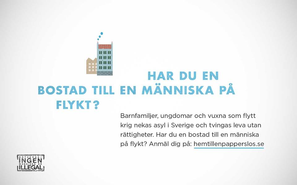 HAR DU EN BOSTAD TILL EN MÄNNISKA PÅ FLYKT?